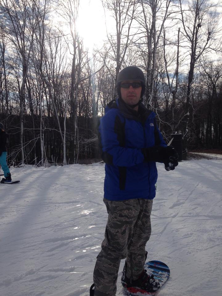 Snowboarding lesson at Whitetail
