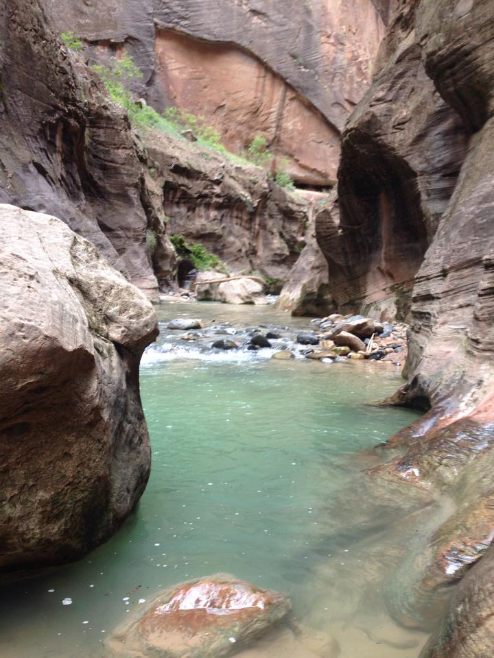 zion the narrows water depth
