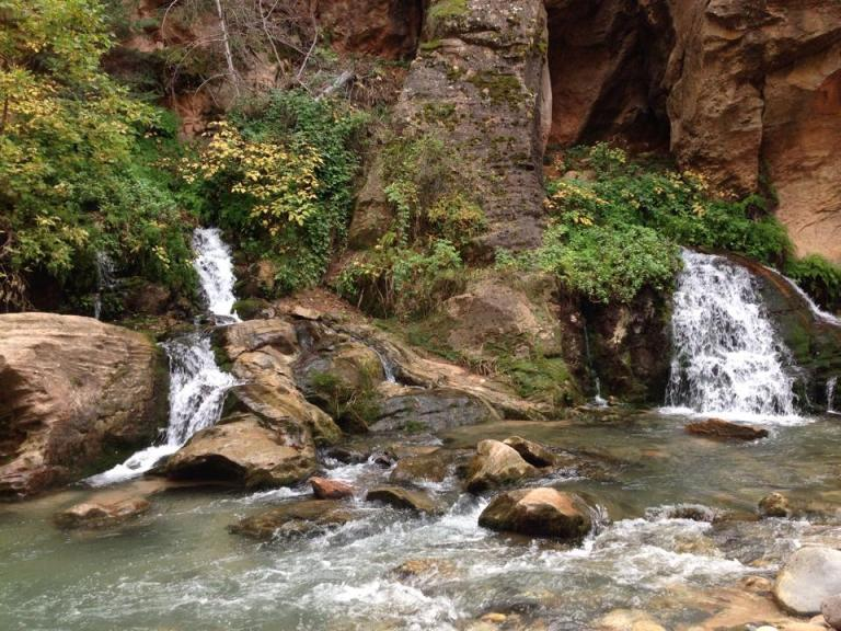Big springs, the grotto, zion narrows